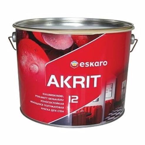 Eskaro Akrit 12 - износостойкая моющаяся краска