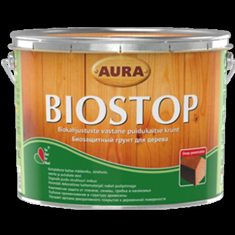 Aura Wood Biostop - биозащитная грунтовка для древесины