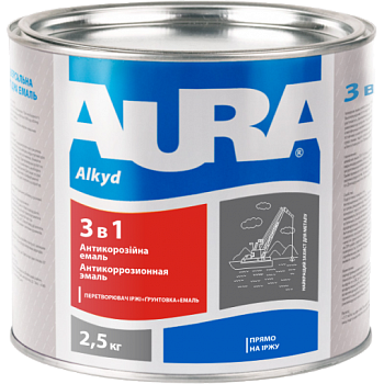 Aura 3 в 1 - антикоррозионная грунт-эмаль