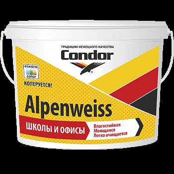Condor Alpenweiss - влагостойкая моющаяся краска для стен и потолков