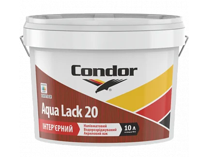 Condor Aqua Lack 20 - интерьерный акриловый лак