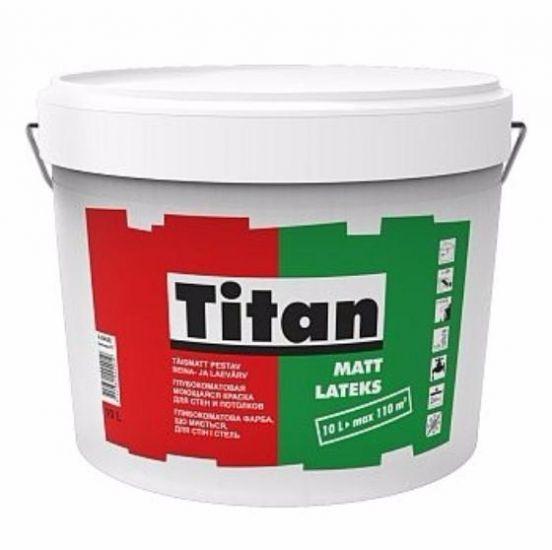 Titan Mattlatex - глубокоматовая моющаяся краска